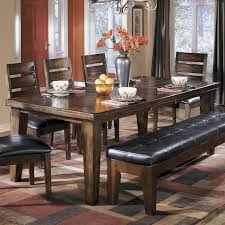 Larchmont Rectangular Extension Dining Table In Dark Brown