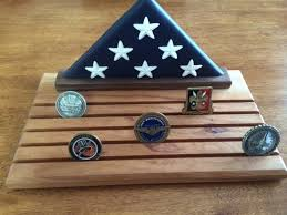 Folded Flag Challenge Coin Display