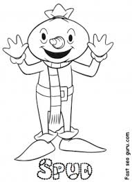 Print Out Bob The Builder And Spud Coloring In Pictures