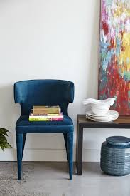 Wayfair Upholstered Dining Room Chairs by Awesome Scoop Back Blue Upholstered Dining Chair Within Attractive