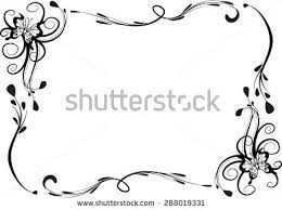 Vector Line Butterfly Border Stock Vector Shutterstock