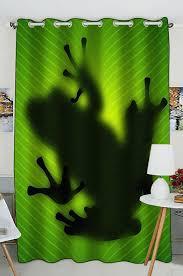abphqto frosch schatten silhouette auf dem bananenbaum blatt fenstervorhang küchenvorhang fenster vorhänge panel für wohnzimmer schlafzimmer größe