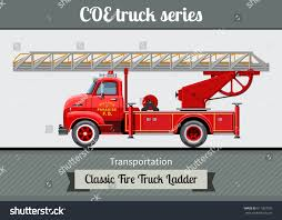 100 Fire Truck Clipart Classic COE Cab Over Engine Stock Vector Royalty Free