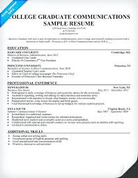 College Student Resume For Internship Good Recent Graduate Template Writing Of