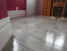Gray Painted Plywood Plank Floors I Am So Doing Thisreplacing My Carpet Over The Concrete Floor In Home Gym