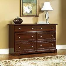 sauder shoal creek 6 drawer oiled oak dresser 410287 the home depot