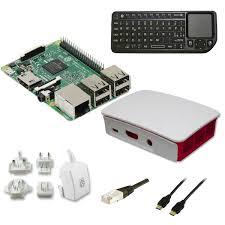 ordinateur de bureau compact raspberry pi 3 multimedia kit blanc pc de bureau raspberry sur