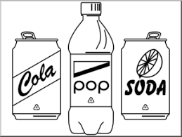 Clip Art Soft Drinks B&W preview 1