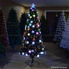 2ft Snowflake LED Fibre Optic Christmas Tree Xmas Decoration Pre Lit