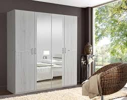 armoire 4 portes chambre à coucher chene blanc