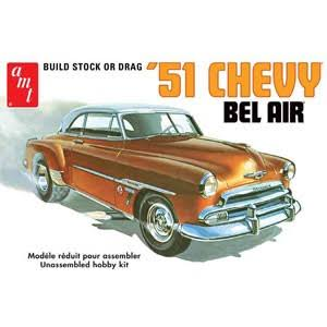 Chevy Bel Air Saloon AMT Detailed Plastic Kit - 1: 25 Scale