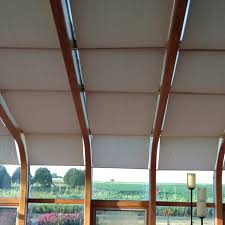 Easy Blinds For A Four Season Sunroom Cafe Rods And Curtain Backing