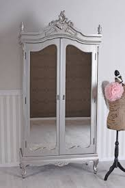 vintage schrank schlafzimmerschrank silber kleiderschrank dielenschrank