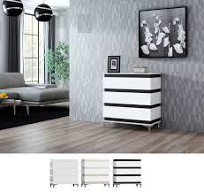 zebra kommode sideboard kabinett modern matt weiß schwarz 83 cm