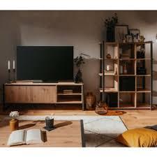 details zu wohnwand wohnzimmer set denton tv board regal melamin artisan oak anthrazit