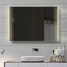 badezimmer spiegelschrank mit led beleuchtung lichtleitenden