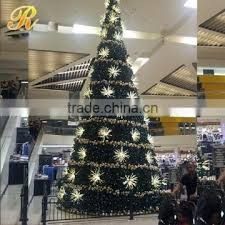 20ft Outdoor Green Metal Lighted Led Christmas Tree