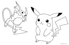 Picachu Coloring Pages Of Pokemon Ash And Pikachu