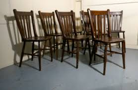 Set Of 8 19th Century Traditional Slat Back Farmhouse Kitchen Chairs ... Antique Set 10 Victorian Mahogany Balloon Back Ding Chairs 19th Of Six Century French Louis Xvi Cane Dutch Marquetry Inlaid Of 6 Legacy 12 Ft Flame Table 14 Chairs Room In Stock Photos Chairsgothic Chairsding Chairsfrench Fniture Single 2 Arm Late Hepplewhite Style Camelback 18th Walnut Chair With Queen Anne Legs English Cira 4 Turn The Century Ding In Wallasey Merseyside Gumtree 9776 Early Regency Vinterior