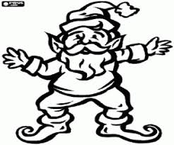 An Elf With Pointed Ears Christmas More Coloring Pages