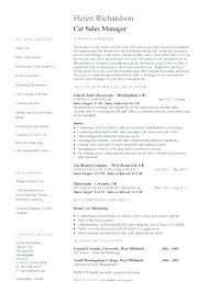 Top Rated Sale Manager Resume Auto Sales Sample Car Resumes