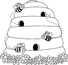 Use The Form Below To Delete This Bee Hive Clip Art Black And White Image From