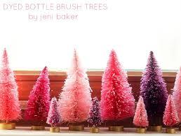 Diy Dyed Bottle Brush Trees