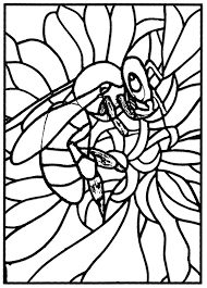Adult Stained Glass Bee Workshop Jb Tosi 2010 Coloring Pages Printable And Book To Print For Free Find More Online Kids