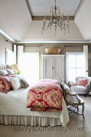 Master Bedroom Pottery Barn Bedding Restoration Hardware Vintage Linen Quilt French Bench Upholstered Headboard Like The Colors