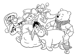 Baby Winnie Pooh Christmas Coloring Pages The