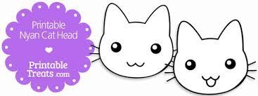Printable Nyan Cat Head