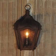 rustic brown iron carriage wall lantern indoor outdoor coastal