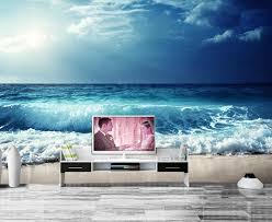papel de parede himmel meer wellen horizon natur fototapete wohnzimmer tv wand sofa schlafzimmer restaurant bar 3d wandbild