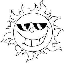 Smiley Sun With Sunglasses Printable For Preschoolers 300x295