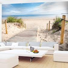 fototapete strand meer 396 x 280 cm vlies wand tapete wohnzimmer schlafzimmer büro flur dekoration wandbilder moderne wanddeko 100 made in