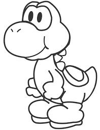 Cartoon Yoshi Coloring Page