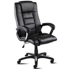 fauteuil de bureau chaise fauteuil de bureau pivotant en cuir synthétique noir mchaus