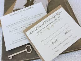 Key To My Heart Wedding Invitation Printed Pocket Fold