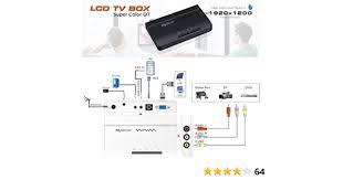 tv box tv schauen im monitor ohne pc vga konverter