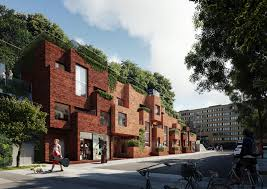 100 Utopia Residences Arkitekter Designs Apartment Block With Rooftop Park For