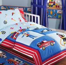 100 Fire Truck Bedding Rescue Heroes Police Car Cotton ToddlerCrib Set