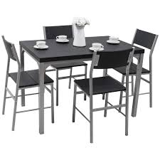 Tangkula Dining Table Set 5 PCS Modern Kitchen Dining Room Wood Top Table  And Chairs Home Breakfast Furniture, Black And Grey Luciana Presso Brown 5 Pcs Faux Marble Top Ding Table Set 30 Most Terrific Counter Height Ding High Top Room Table Camelia Espresso Round Glass With Inverted Base By Crown Mark At Dunk Bright Fniture Kitchen Amazing And Chairs Ktaxon Piece Set 4 Leather Chairsglass Fnitureblack Marble Effect Ding Table And Chairs Snnonharrodco Room Giveandgetco W Dinette Black White Rectangular Belfort Essentials Giantex Padded Metal Frame For Breakfast Verano 5pc Contemporary 45 Steve Silver Rooms Less D989 Wglass Grey Global Woptions