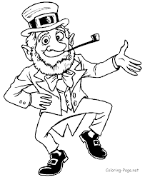 Leprechaun Coloring Pages At Book Online