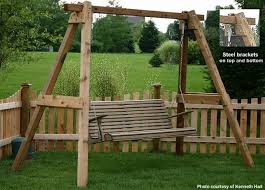 site has free plans for this a frame swing frame backyard fun
