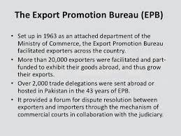 export bureau tdap trade development authority of pakistan