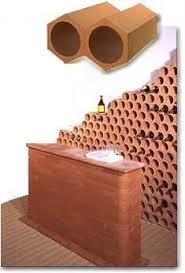 range bouteille en brique casier a bouteille terre cuite carreau mural en céramique lusitane