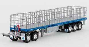 Drake Maxitrans Freighter Trailer & Dolly Road Train Silver Blue 1 ...