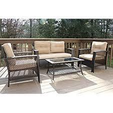 Azalea Ridge Patio Furniture Replacement Cushions by Amazon Com Better Homes And Gardens Azalea Ridge 4 Piece Patio