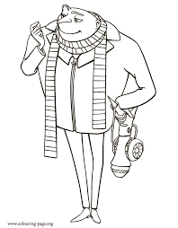 Gru Out Of Despicable Me Colouring Pages
