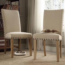Chair Slip Cover Pattern by Furniture Inspire Q Aberdeen Beige Upholstered Nail Head Parson
